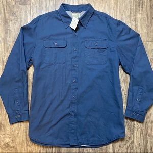 LL Bean Men's Flannel Lined Shirt Button Down L